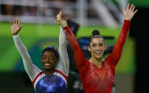 Simone Biles and Aly Raisman