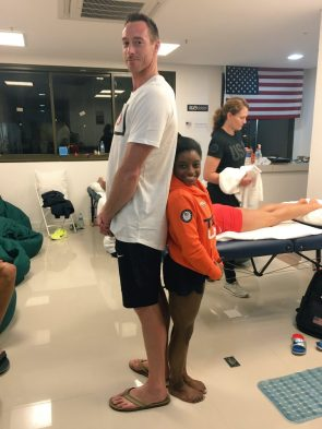 Simone Biles and David Lee