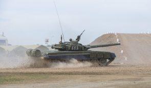 T-72 in motion