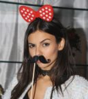 Victoria Justice with Mustache