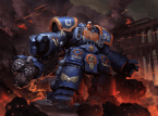 Warhammer space marine with optional tacticool attachments
