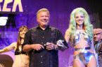 William Shatner with Alien Show Girls