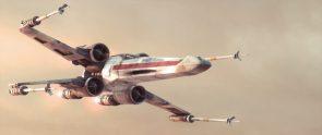 X-wing in flight