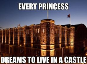 every princess dreams to live in a castle