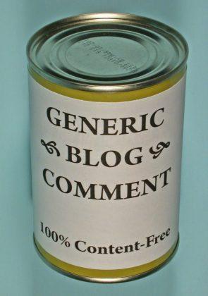 generic blog comment