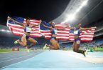 jumping american runners