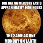 one day on mercury