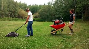 portable electric lawn mower