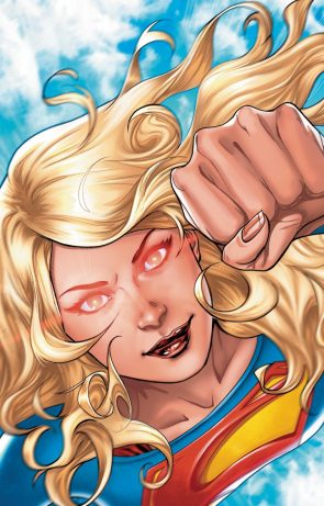 supergirl has red eyes