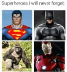 superheroes I will never forget