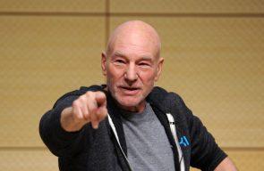 Patrick Stewart pointing at you