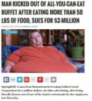 fat man sues buffet