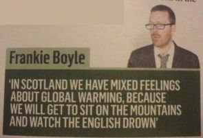 frankie boyle on global warming