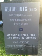 memorial guidelines