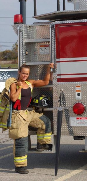 sexy female fire fighter