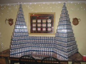 Beer can fortress