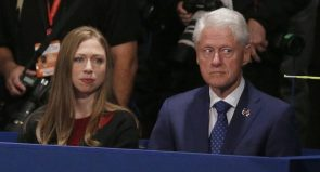 Bill and Chelsey Clinton