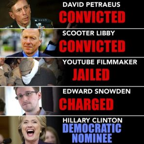 Convicts and Prison vs Democratic Nominee
