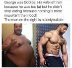 George was 500 pounds