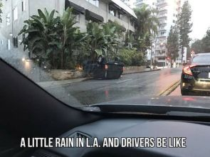 a little rain in LA