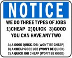 3 Types of Jobs