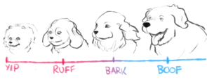 dog sound scale