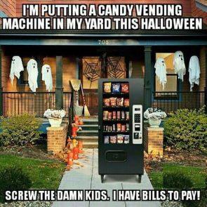 halloween vending machine