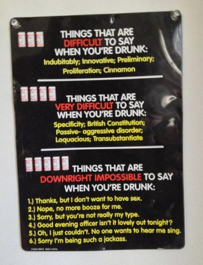 things that are difficult to say when you're drunk