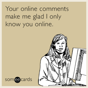 your online comments