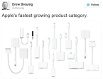 Apple's fastest growing product category