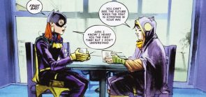 Batgirl says 'Fruit bat'