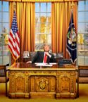 Donald Trump in the Golden Office