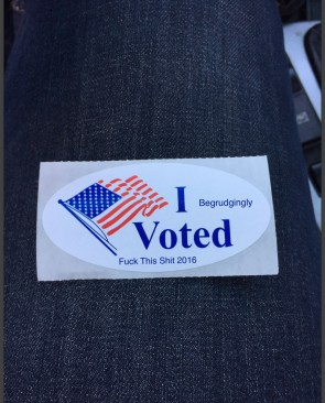 2016 I Voted Sticker