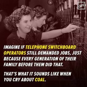 Imagine if telephone switchboard operators demanded jobs