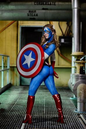Krystie Starr as Captain America