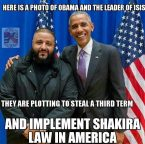Obama and the Leader of ISIS