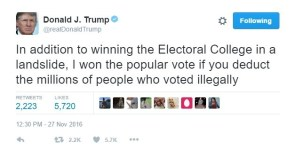 Donald Trump Disputes election results…in an election he just won?
