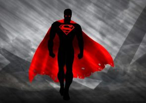 Superman in red