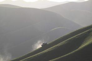 Tank on a hill