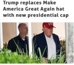 Trump has a new hat