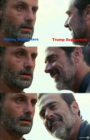 The Walking Dead: Hillary Supporters vs Trump Supporters