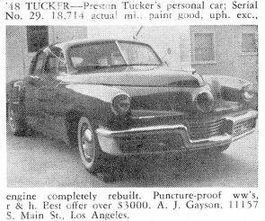 April 1958 Motor Trend Magazine Classified Ad