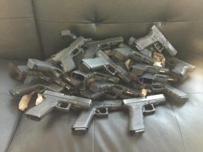 gun covered kitty