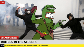 rioters in the streets
