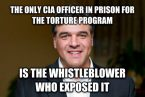 the only CIA Officer in prison for the torture program