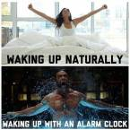 waking up naturally vs waking up with an alarm clock