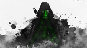 Arrow under his logo