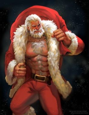 Santa Claus is a beef cake
