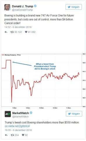 Donald trump dumping his Boeing stock