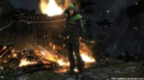 Green Arrow blew some stuff up